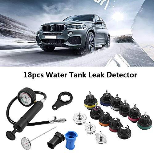 Compression Tester, 18pcs Water Tank Leak Cooling System Pressure Test Kit by Estink (Image #3)