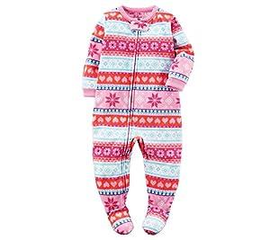 Carter's Baby Girls' 1-Piece Fleece Pajamas