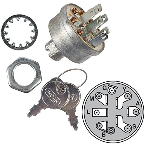 MaxPower 9623 Lawn Tractor Ignition Switch that Replaces Craftsman, Sears, Wizard, Husqvarna and Poulan 140301 MTD 725-1717 Murray 92556
