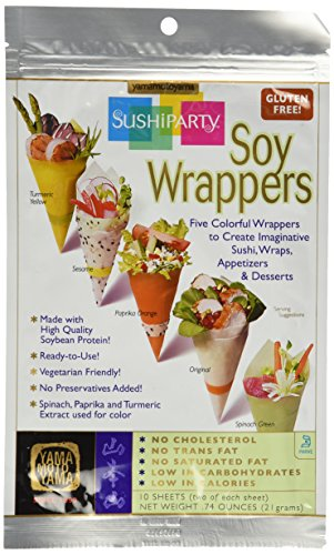Yama Moto Yama Assorted Soy Wrapper Half Sheet - 10 Sheets Per Unit Gluten Free 0.74oz