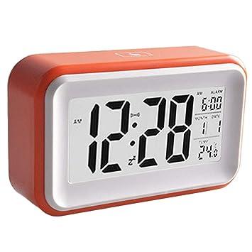 MOOUK Reloj Despertador Digital, Pantalla LCD, Reloj Inteligente para mesita de Noche con función