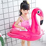 Inflatable Flamingo Pool Float Baby Swimming Rings With Safety Rope Inflatable Pool Raft Baby for Kids Enjoy Playing on Water