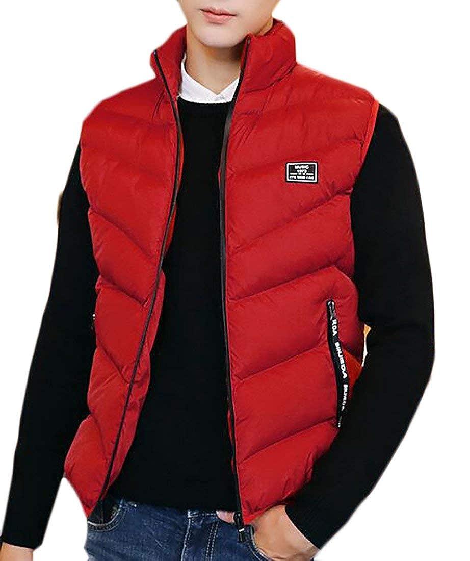 Alion Men's Packable Puffer Down Vest Waistcoat Button Down Jacket Coat
