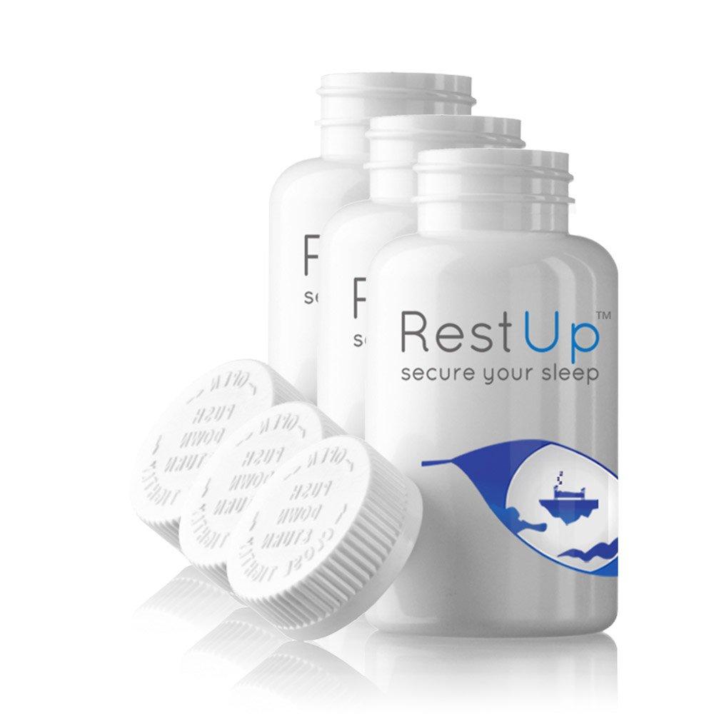 RestUp Premium Sleep Aid: NEW #1 BEST Non-Habit Forming, Herbal Sleep Aid, (made with L-Theanine, NIAGEN, 5HTP, Bioperine, and Melatonin).