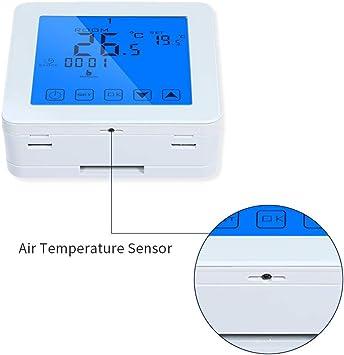 Termostato caldera gas programable,termostatos para calderas gas calefaccion inteligente digitales pared regulador de temperatura con bloqueo infantil,termostato de calentamiento