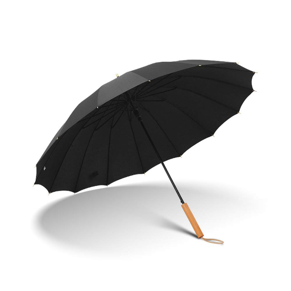 ZSZJ La Lluvia del Paraguas del Parasol con Mango De Madera ...