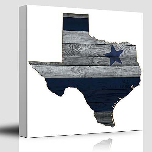 Dallas Blue and Silver Cowboy Star Wood Background Rustic Country Western