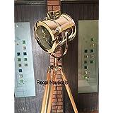 Retro Marine Floor Lamp, Nautical Spot Studio Tripod Floor Lamps Search light