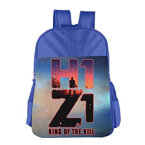 JXMD Custom King Kill Skull Video Game Poster Children School Bag Backpack For 4-15 Years Old RoyalBlue