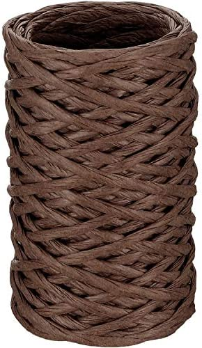 Brown Floral Bind Wire Wrap Paper Covered Waterproof Rustic Vine For Flower Bou
