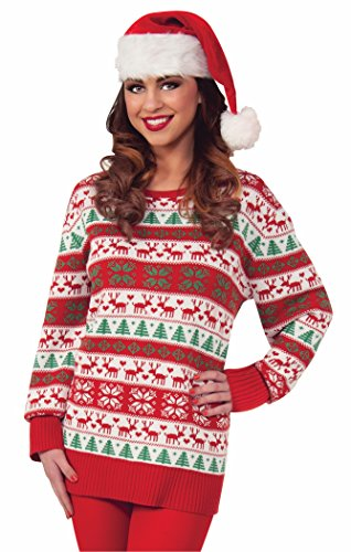 Forum Novelties Plus-Size Winter Wonderland Novelty Christmas Sweater, Multi, XX-Large]()