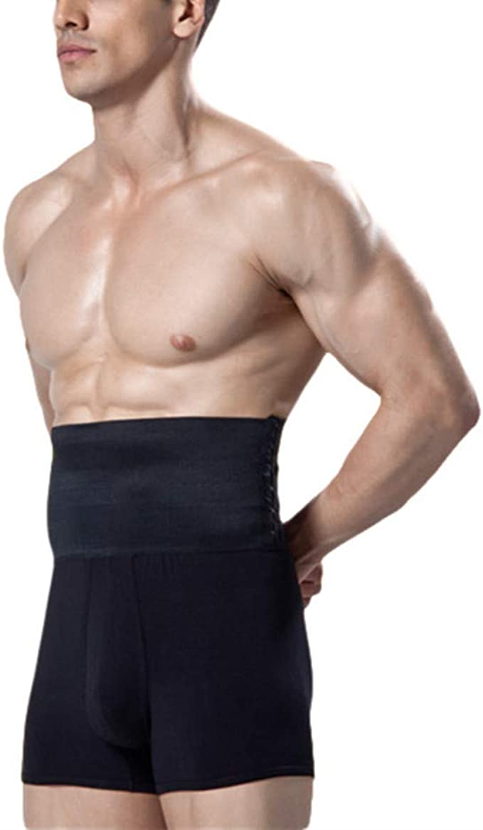 MASS21 Men/'s Shapewear High Waist Tummy Leg Control Briefs Anti-Curling Slimming Body Shaper