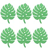 millet16zjh 6Pcs Nordic Style Paper Turtle Palm Leaves Party Wedding Home Backdrop Decor Turtle Leaves Dark Green
