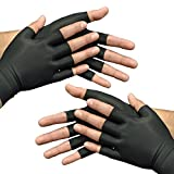 Medipaq Anti-Arthritis Health Therapy Gloves 2X Pairs Large Black