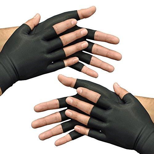 Medipaq Anti-Arthritis Health Therapy Gloves 2X Pairs Large Black by Medipaq