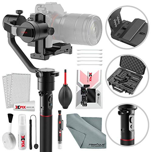 Moza AirCross 3-Axis Gimbal for Mirrorless Cameras with Xpix Deluxe Camera Cleaning Kit