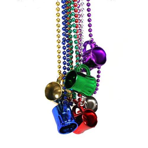 Mardi Gras Mug Shotglass Beads (12 Necklaces)