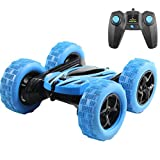 Hugine High Speed RC Car Stunt Car,Double Sided Rotating Tumbling-360 Degree Rotation 2.4GHz Remote Control Off-Road Truck(Blue)