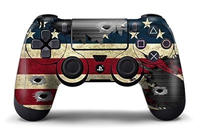 PS4 Controller Designer Skin for Sony PlayStation 4 DualShock Wireless Controller - Battle Torn Stripes from 247Skins
