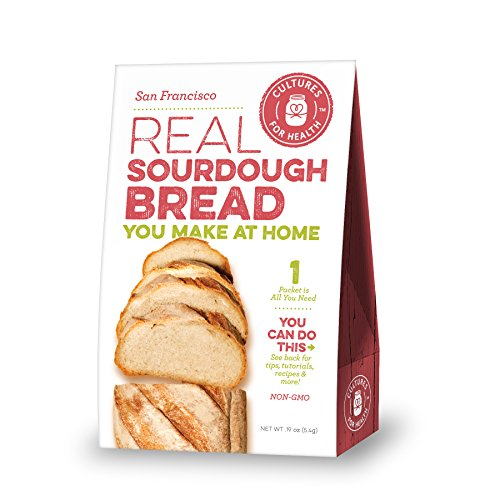 Cultures for Health San Francisco Sourdough Starter, Organic non-GMO, Natural Yeast, Makes Sourdough Bread, Pizza, Pancakes, Includes 1 Packet Of Starter (Sourdough Pancakes)
