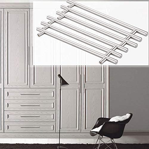 12 50mm collectsound 12mm Stainless Steel Kitchen Door T Bar Handle Pull Knob Cabinet Drawer
