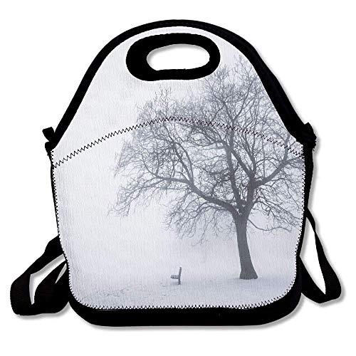 - Cvhtr3m Farm House Dramatic Winter Scene A Leafless Tree in Fog Blizzard Day Mist Outdoors Best Portable Reusable Lunchbox Handbag Lunch Tote Lunch Bag