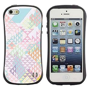 LASTONE PHONE CASE / Suave Silicona Caso Carcasa de Caucho Funda para Apple Iphone 5 / 5S / Pattern Shapes Abstract Light
