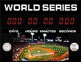 Countdown Today CD-BBWS1 World Series Clock, 23'' L x 17'' W x 2'' H, Black