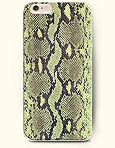 Light Green And Black Serpent Pattern - Snake Skin Print - Phone Cover for Apple iPhone 6 Plus ( 5.5 inches )...