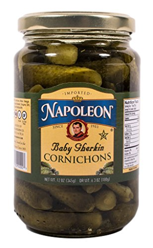Gluten Free Pickles - Napoleon Cornichons, 12 Ounce (Pack of 12)