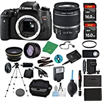 Canon Rebel T6S Camera + 18-55mm STM + 2pcs ZeeTech 16GB Memory + Case + Reader + Tripod + Starter Set + Wide Angle + Telephoto + Flash + Battery + Charger + Filter - International Version