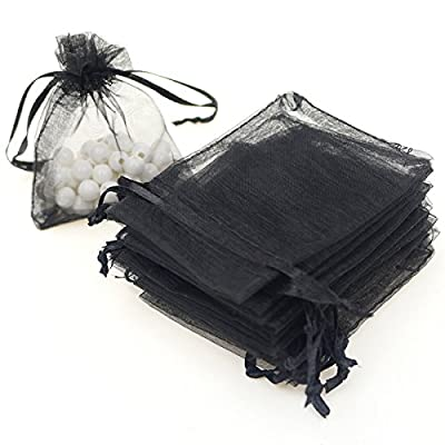Dealglad 100pcs Drawstring Organza Jewelry Candy Pouch Party Wedding Favor Gift Bags