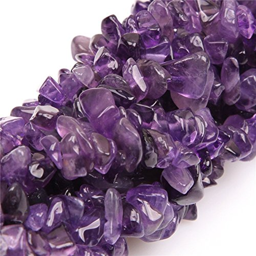 5-8mm Natural Amethyst Chips Chip Beads Loose Gemstone Beads for Jewelry Making Strand 35 Inch