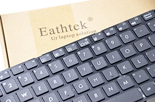 Eathtek Replacement Keyboard with Frame for Asus A52 A52F A52DR G53SX G60X G73 G73JH G73Jw N73JQ N52 N52D B53 W90V K53 K53E K53SJ X54XB X54C A54L N61Da N70 N70Sv B53 B53E B53F series Black US Layout