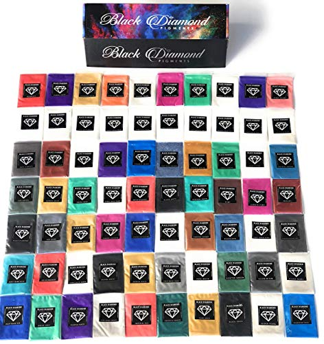BLACK DIAMOND PIGMENTS Pigment Box Set (7 Variety Packs) 70 5g Packs Total Including Ghost pigments (Epoxy,Slime,Resin,Soap)