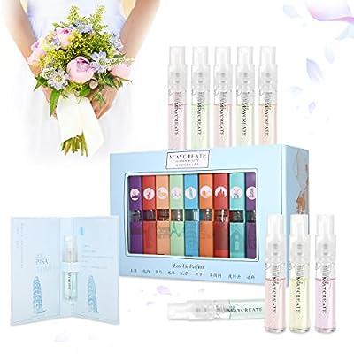 9 Pcs Mini Perfume Gift Set for Women, LuckyFine 9 Scent City Fragrances Kit Spray Perfume for Girls Valentine's Day Gift Set