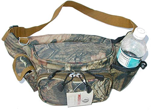EXPLORER Hiking/Tactical Fanny Pack with Water Bottle Compartment (Mossy Oak) Black Oak Fanny Pack