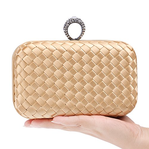Bag Wallet Evening Bag Temperament Women Bag GXYCP For Gold Clutch For Woven Red Shoulder Party Bride Wedding vd0fq5xw