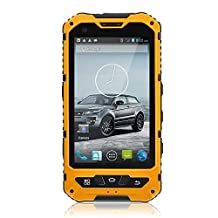 4 Inch Waterproof 3G Rugged Android 4.2 Smartphone 1.2GHz Dual Core Dual SIM Dustproof Shockproof Capacitive Screen GPS 5MP A8 (Yellow)