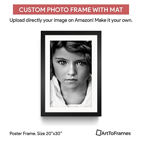 ArtToFrames Custom Printed Matted High Definition Quality Photo 20 x 30, Framed in Satin Black with 2 Inch Super White (Matted Framed Photo)