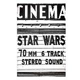 Star Wars Classic Theatre Marquee Billboard Woven Jersey Sweatshirt Fleece Blanket Twin, 60'' x 90'', Black/White/Grey