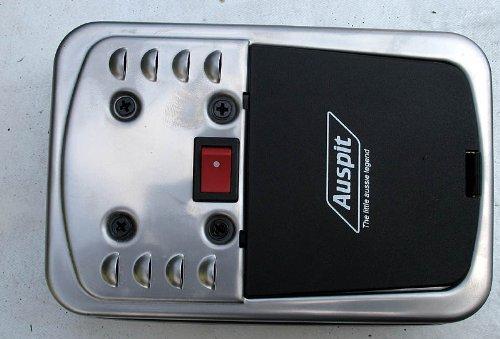 Grill Motor aus rostfreiem Edelstahl, Läuft bis zu 90 Stunden auf 2 D-Batterien