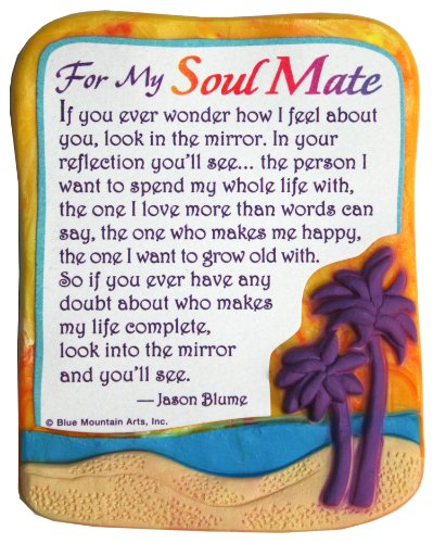 "Sculpted Magnet: For My Soul Mate, 3.0"" x 3.5"""
