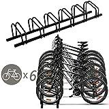Goplus Bike Rack Bicycle Stand Cycling Rack Parking Garage Storage Organizer (Black-6 Bike)