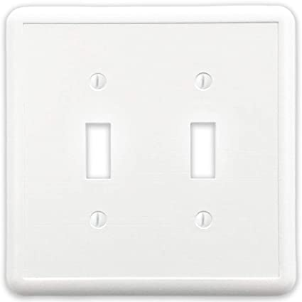 Questech White Linen Decorative Wall Plateswitch Plateoutlet Cover