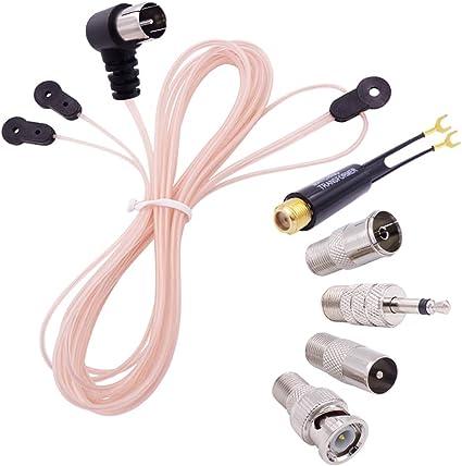 5X Am//Fm Antennen Fm Dipol Antenne 75 Ohm Pal Anschluss Funk Stereo Innen fI9X3