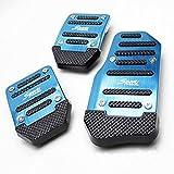 Ocamo Universal Nonslip Clutch Brake Gas Car Pedal Plate Set for Catch Car blue Manual