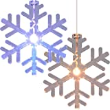 Trademark Home 72-LT510 LED Color Changing Snowflake Window Decorations, Set of 2