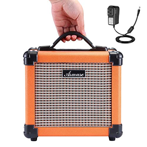 Asmuse Electric Guitar Amp 10W Portable Combo Amplifier Speaker