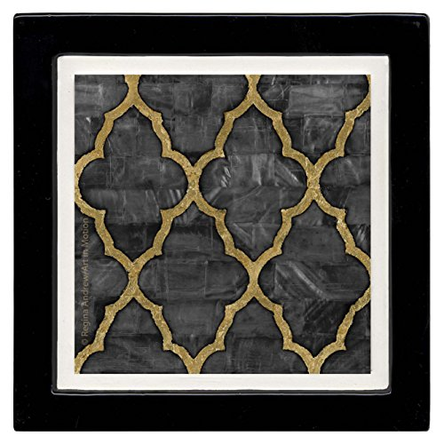 Thirstystone Ambiance Coaster Set, Mother of Pearl Ebony, (Coaster Pearl)